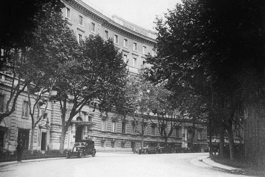 Picture of Hotel Majestic Roma in the 1930s