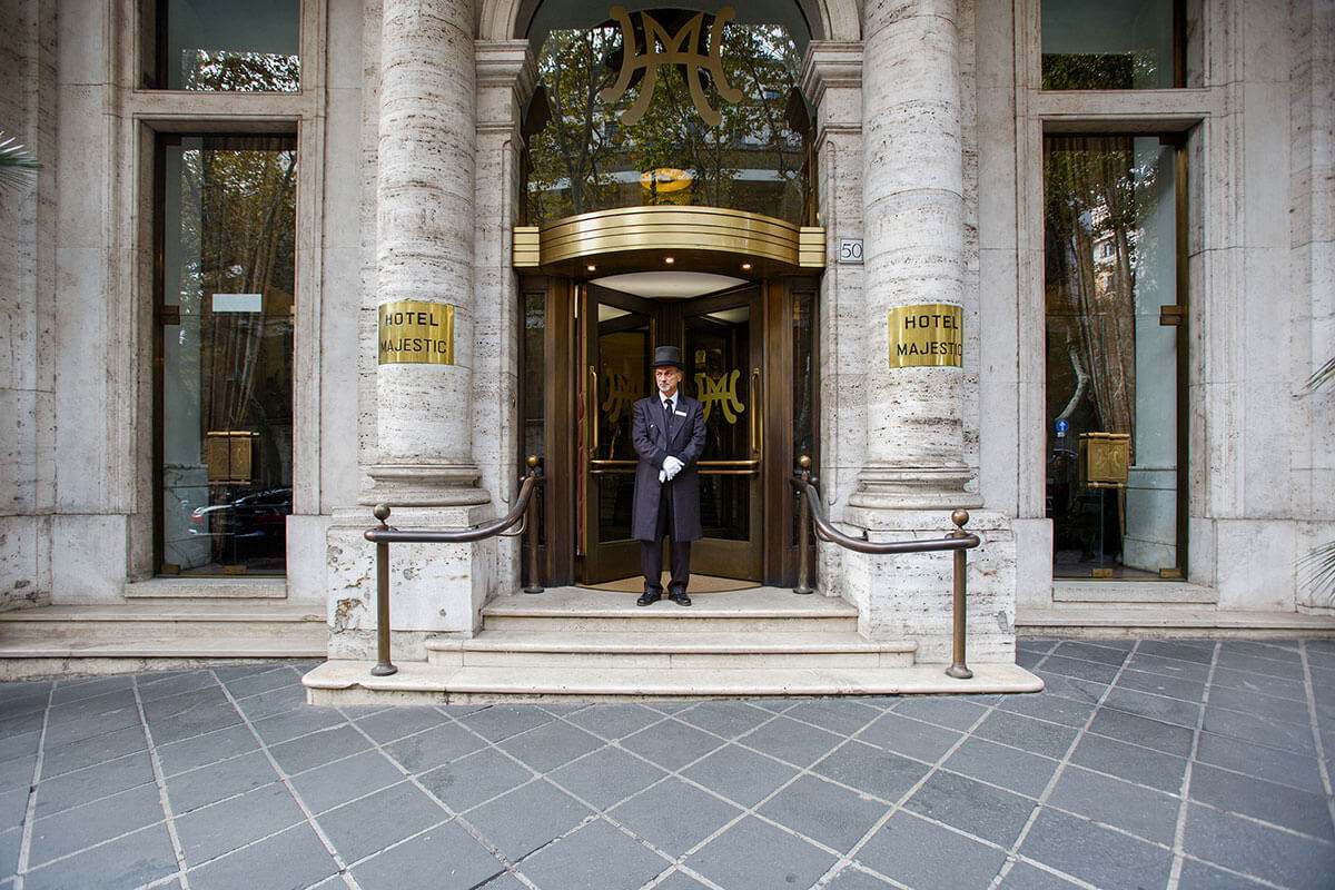 Hotel Majestic Front Door and Doorman