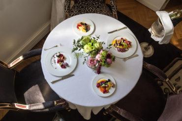 Un tavolo al Ristorante Majestic