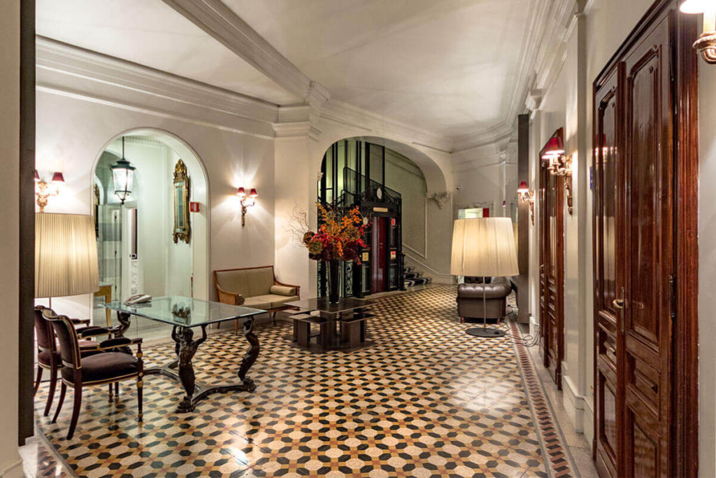 Corridor at Hotel Majestic Roma