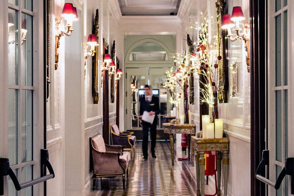 Inner Corridor at Hotel Majestic Roma