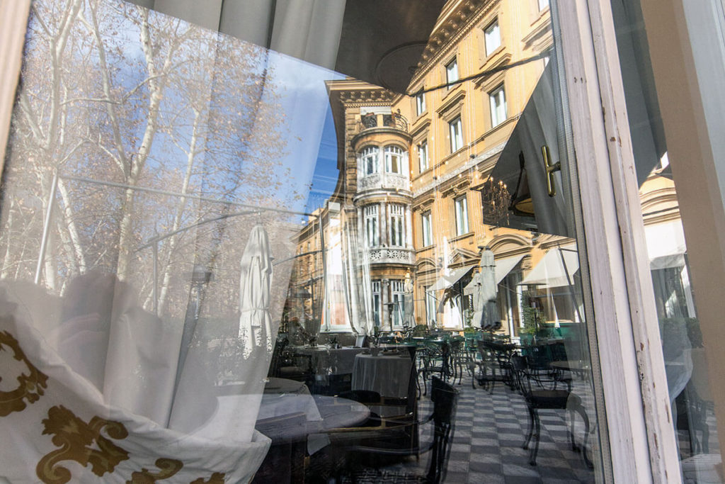 Restaurant and Terrace at Hotel Majestic Roma