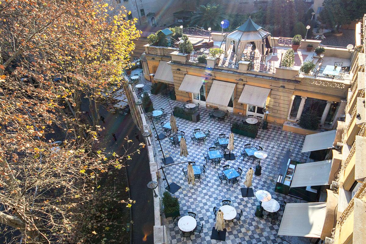 Via Veneto Terrace Hotel Majestic Roma