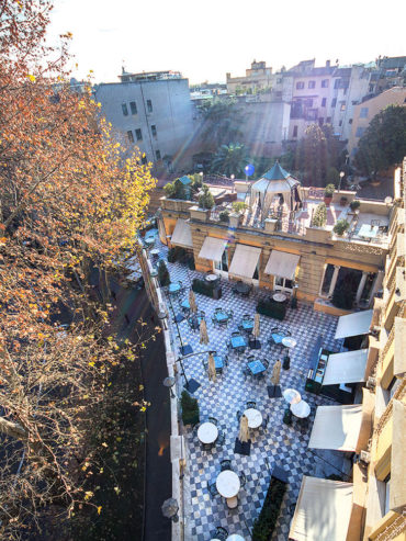 The Via Veneto Terrace at Hotel Majestic Roma