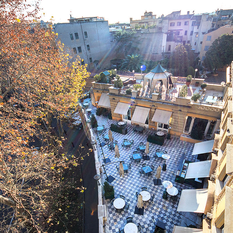 View over Via Veneto Terrace