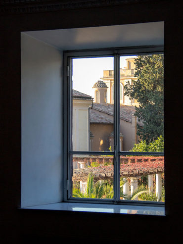 Window view from Hotel Majestic Roma