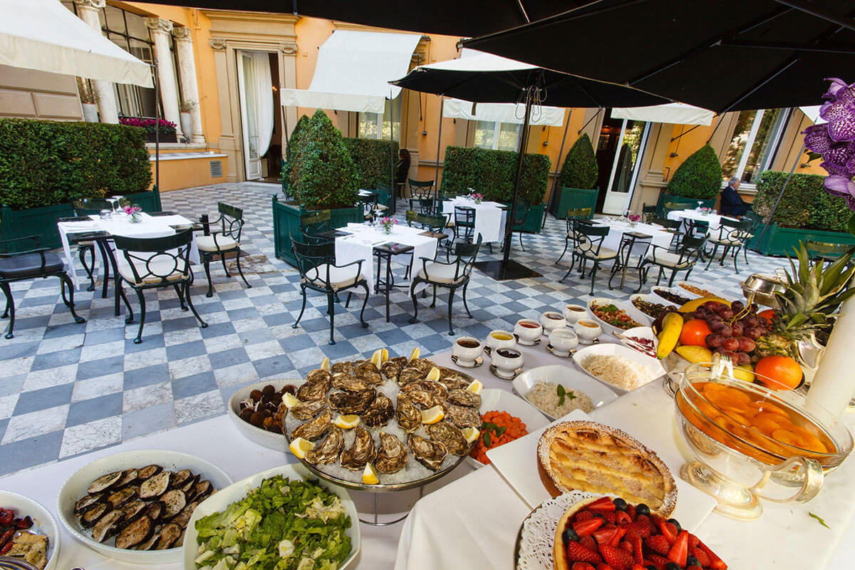 Buffet on the Terrace at Hotel Majestic Roma