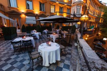 Via Veneto Terrace at Night