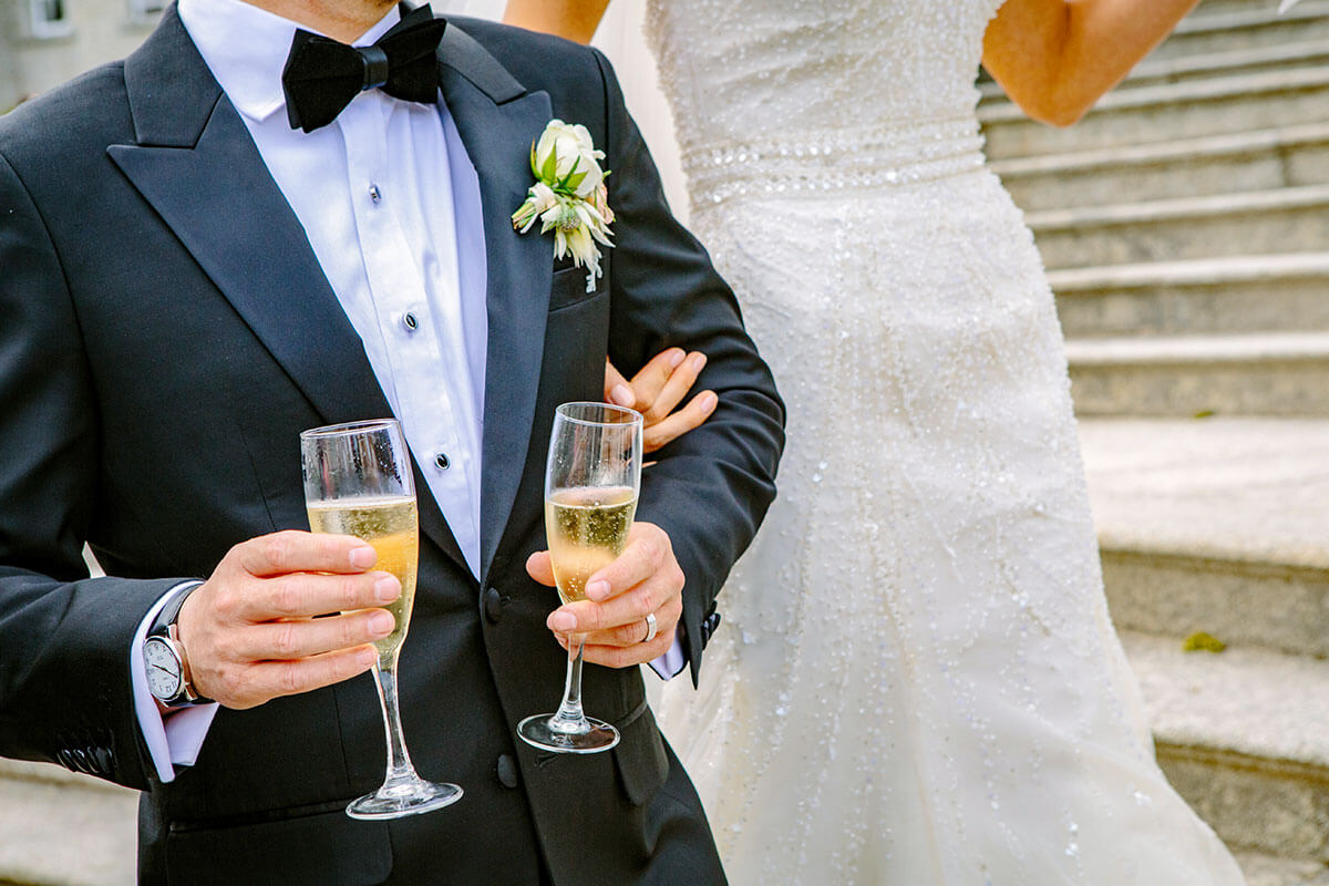Wedding guest welcoming
