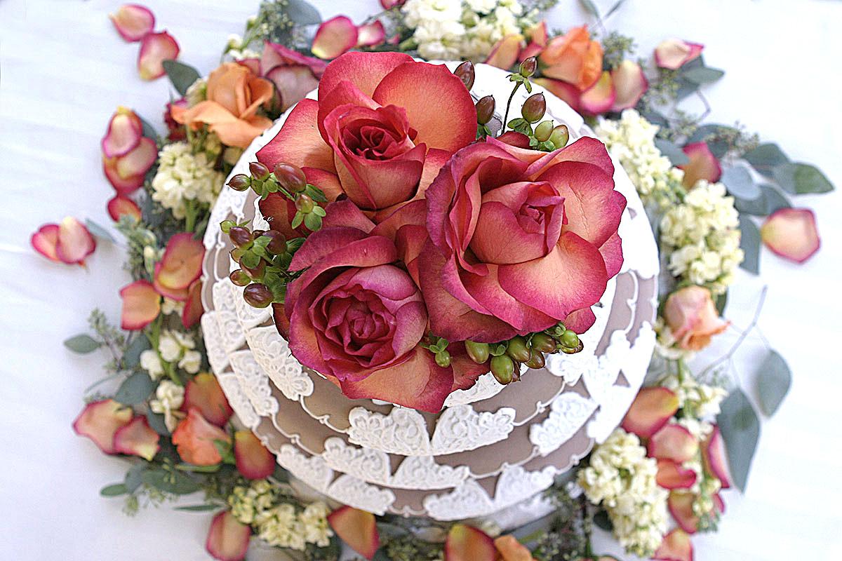 Wedding cake at Hotel Majestic Roma